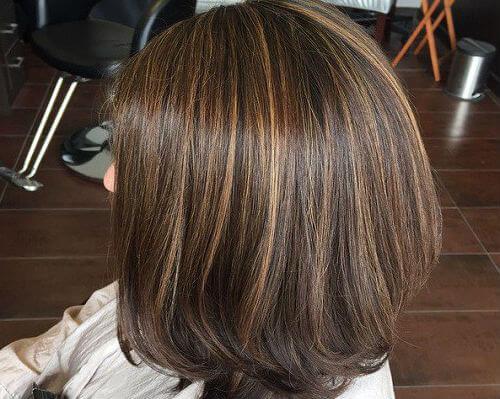 luces en el pelo