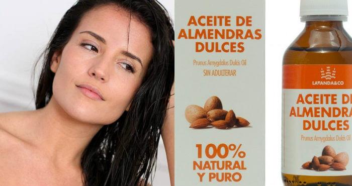 beneficios de usar aceite de almendras en el pelo