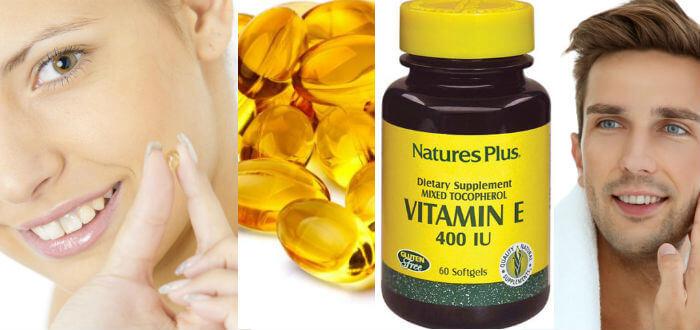vitamina e capsulas para la cara