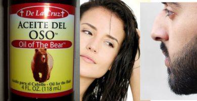 aceite de oso para cabello pestañas barba