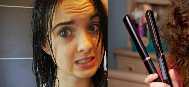 cómo evitar el frizz cuando de planchas el pelo