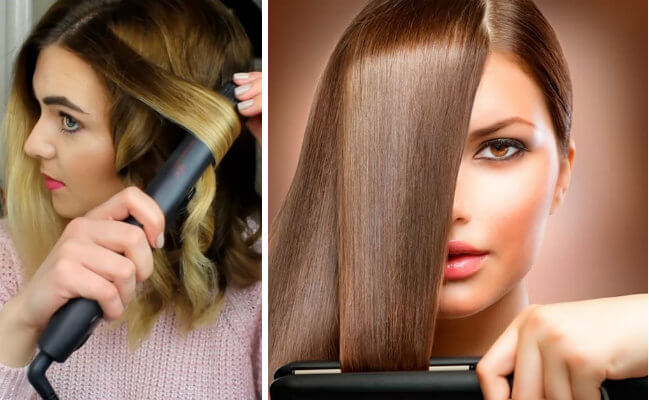 que usar antes y despues del planchado del pelo