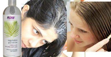 en qué ayuda la glicerina en el cabello