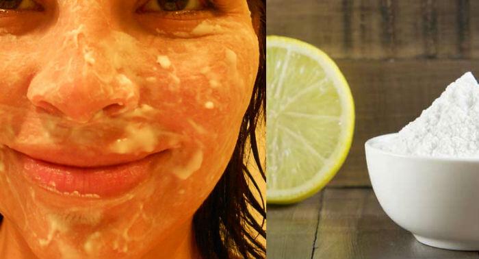 para que sirve el bicarbonato con limon en la cara