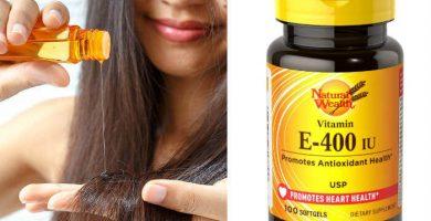 para que sirve la vitamina e en el cabello